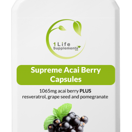 Supreme Acai Berry Capsules, acai berries, acai berry capsules, superfood, superfruit, superfood supplement, antioxidants, Omega oils, vitamins, minerals, immunity support, weight loss, energy boost, heart health