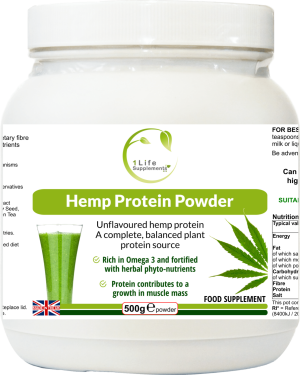 Hemp protein powder provides complete, balanced, and natural protein from hemp seed