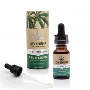 CBD e-liquid, 15ml, 100mg Cannabidoid Mary Jane