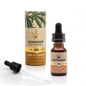 CBD e-liquid, 15ml, 250mg Cannabidoid Custard Cream