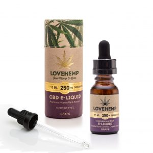 CBD e-liquid, 15ml, 250mg Cannabidoid Grape
