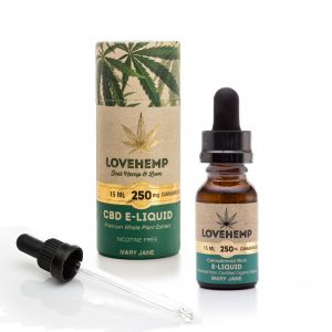 CBD e-liquid, 15ml, 250mg Cannabidoid Mary Jane