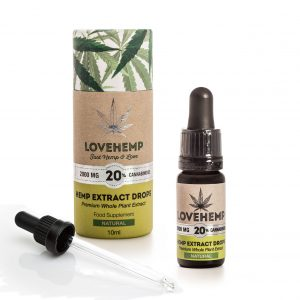 CBD Hemp Oil 2000mg - 20% CBD 10ml Natural