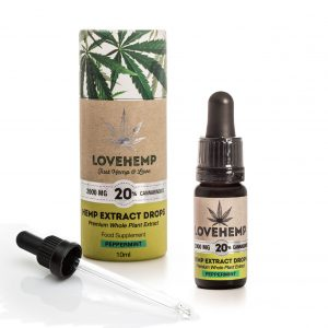 CBD Hemp Oil 2000mg-20% 10ml Peppermint