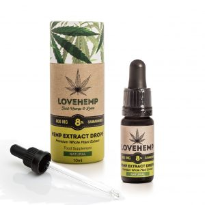 CBD Hemp Oil 800mg - 8% CBD 10ml Natural