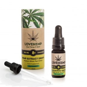 CBD Hemp Oil 800mg - 8% CBD 10ml Peppermint