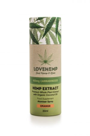 CBD Hemp Oil Spray - 200mg (30ml) Orange