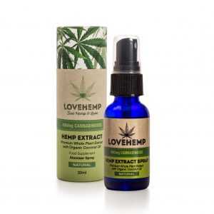 CBD Hemp Oil Spray - 400mg (30ml) Natural