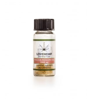 Terpene Infused CBD Crystal 90% CBD + 10% Terpene 1000mg (Watermelon OG)